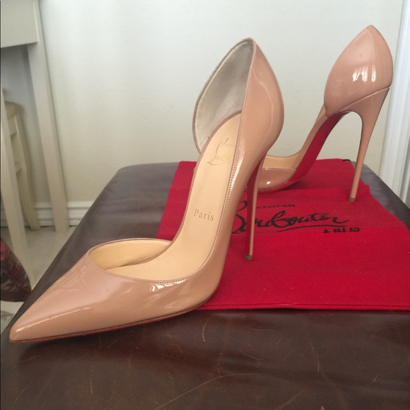 ca317bb178 Christian Louboutin Shoes | Iriza Nude Patent Leather | Poshmark
